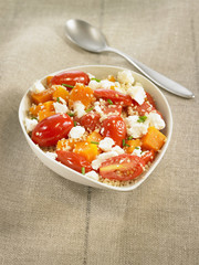 pumpkin and tomato tabbouleh