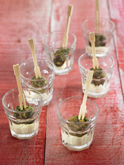 swiss chard and chickpea mousse appetizers