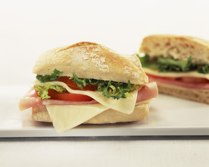 ham,cheese and endive sandwich