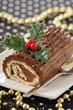 christmas chocolate log cake