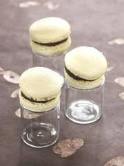 vanilla-chocolate macaroons