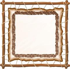 Sfondo di Cuoio su Telaio-Leather on Frame Background-2-Vector