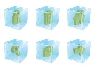Ice cube icons