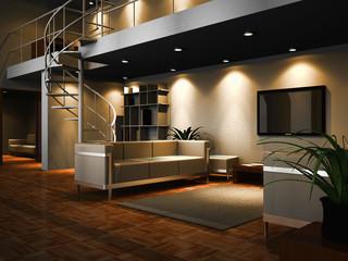 Modern designed interior