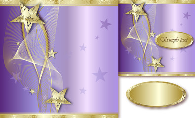 Elegant Golden Background with stars