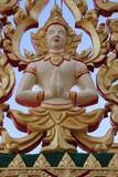 art on gable of temple, Wat Tarae, Mahasarakam poster