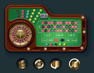 Vector European roulette table layout