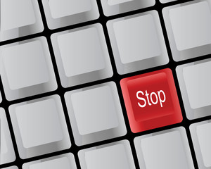 The keyboard and stop