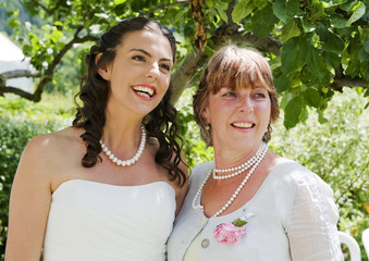Bride and Mother enjoying a moment together