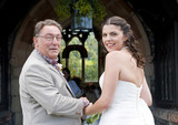 Bride and Father entering Church poster