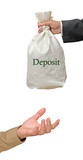 bag with deposit poster