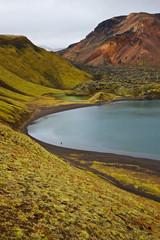 Crater lake in Landmannalaugar, Iceland