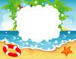 Summer tropical banner, vector illustration