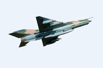 MIG 21 Aircraft - isolated on white