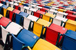 cColorful stadium seating