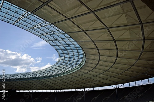 Deurstickers Berlijn Berlin olympic stadium roof construction