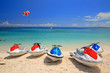 canvas print picture - Jetski on Paradise Island beach