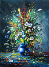 Bouquet de fleurs sauvages dans un vase
