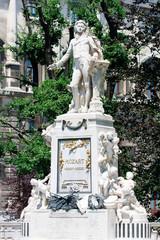 Mozart Denkmal im Wiener Burggarten, Österreich