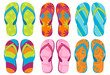 Set of colorful fun Flip flops - 24174964