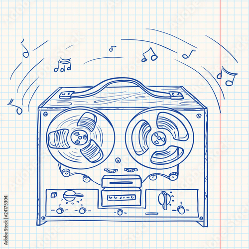 Retro Musical player (tape recorder)