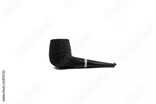 Wooden tobacco pipe isolated