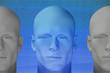 Futuristic male figures. 3d digitally created illustration.