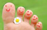 glückliche Füße