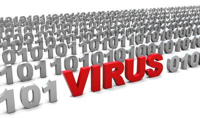 virus in binary code