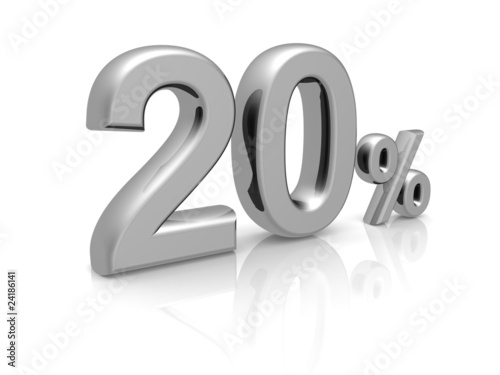 20 percents discount symbol