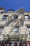 Typical American style fire escapes, New York poster