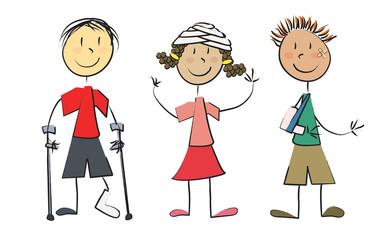 3 enfants malades guéris