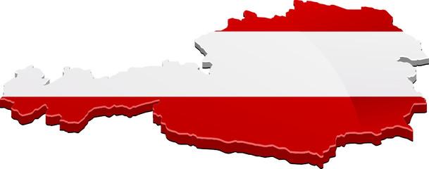 3D-Karte von Österreich