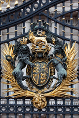 Royal Crest at Buckingham Palace Gate