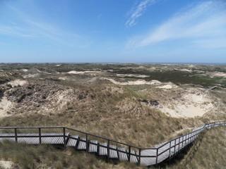 Sanddünenlandschaft mit Treppe auf Amrum