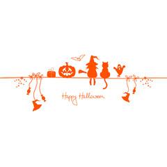 Happy Halloween Symbols White