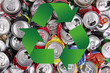 lattine di alluminio riciclabili