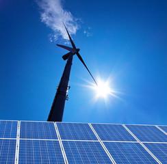 Windenergie - Alternative Strom Energie durch Windrad