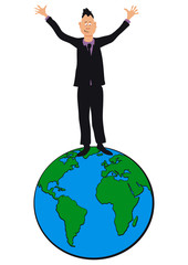Businessesman on top of the world - Mr Piphead