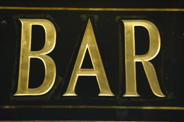 Enseigne de Bar à Paris