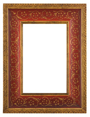 Beautiful red gold frame