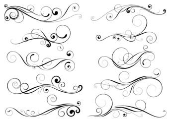 Set of swirl design elements