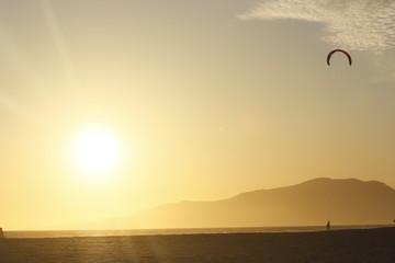 kite-surf en playa de Tarifa, Cádiz