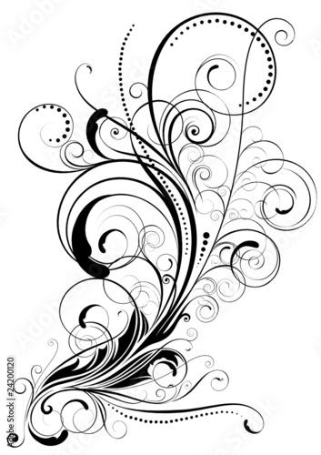 Swirl floral design © milkal