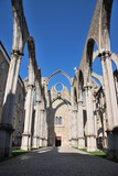 Carmo Church ruins in Lisbon, Portugal