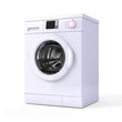 Washing machine isolated over white - 3d render - 24202989