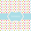 Blue polka dot design frame