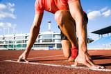 Fototapety runner at the start