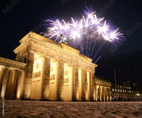 Leinwandbilder,berlin,silvester,feuerwerk,wahrzeichen