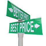 Better and Best Price - Two-Way Street Sign poster